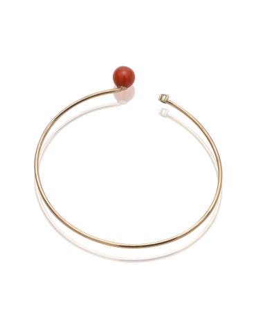18k Yellow Gold Bangle with...